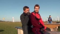 Michał - skok ze spadochronem